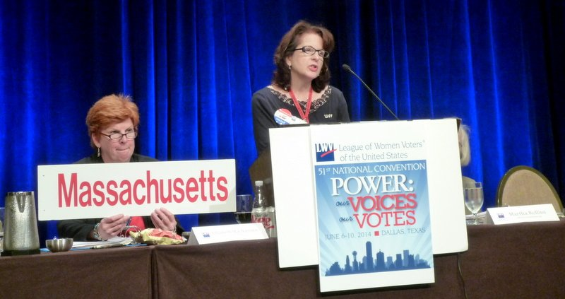 LWVMA Co-President Anne Borg addresses LWVUS Convention