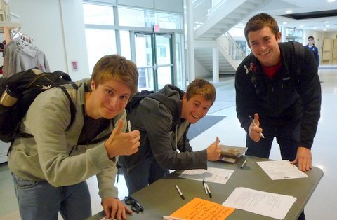 High School Voter Registration project 2012