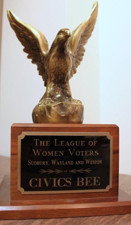 lwv civics bee trophy