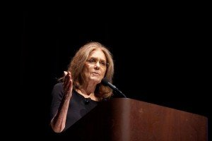 Gloria Steinem at How Women Become Political Boston Globe photo